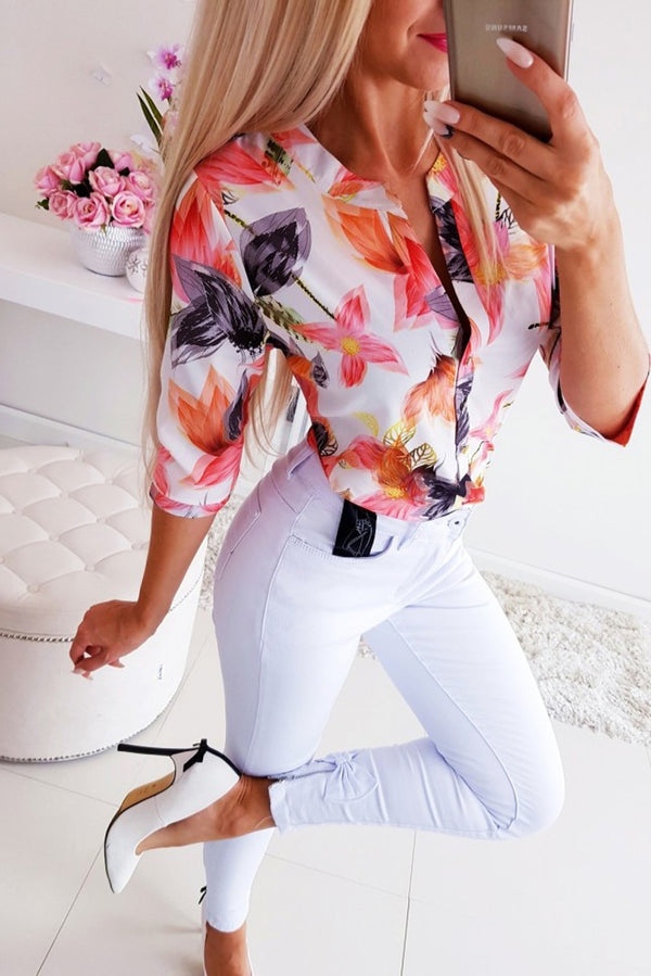 Long Half Sleeve Loose Shirts - THEGIRLSOUTFITS