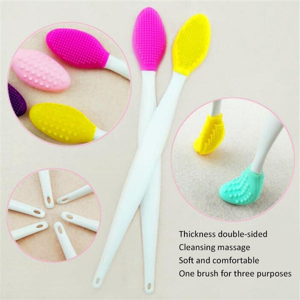 Exfoliating Nose Clean Blackhead Removal Brush Tool - THEGIRLSOUTFITS