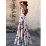 V-Neck Backless Vintage