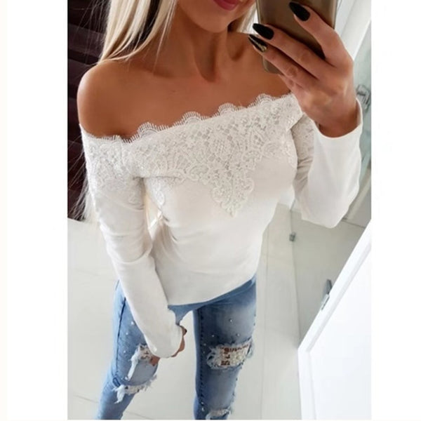 Hollow Out Off Shoulder - THEGIRLSOUTFITS