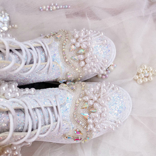 Bride Princess Sequins Pearls - THEGIRLSOUTFITS