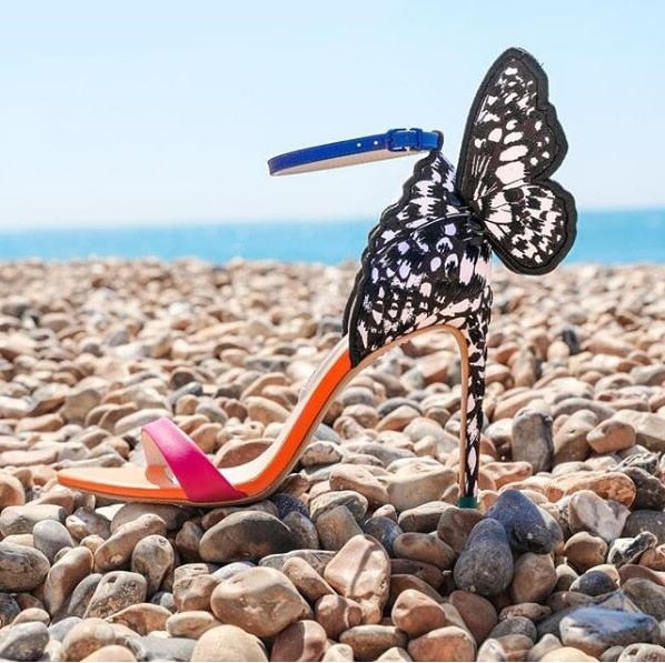 Multicolored Embroidered Butterfly Sandals - THEGIRLSOUTFITS