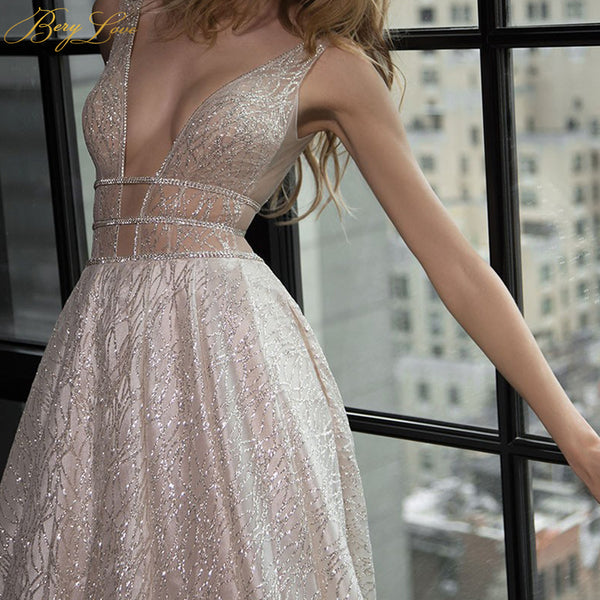 Champagne Gowns Long Sexy - THEGIRLSOUTFITS