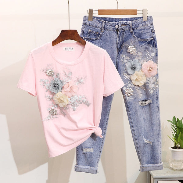 Heavy Work Embroidery 3D Flower - THEGIRLSOUTFITS