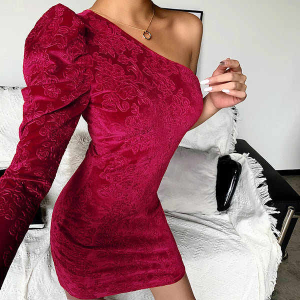 Puff Sleeve Party Dress - THEGIRLSOUTFITS