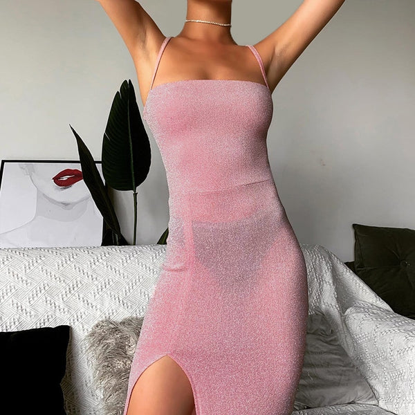 Pink Backless Split - THEGIRLSOUTFITS