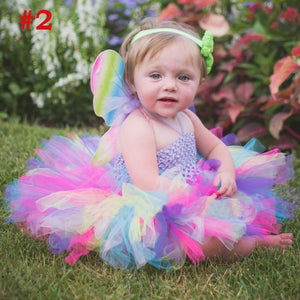 Fluffy Baby Dress with Matching Headband