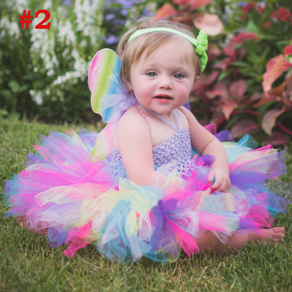 Fluffy Baby Dress with Matching Headband - THEGIRLSOUTFITS