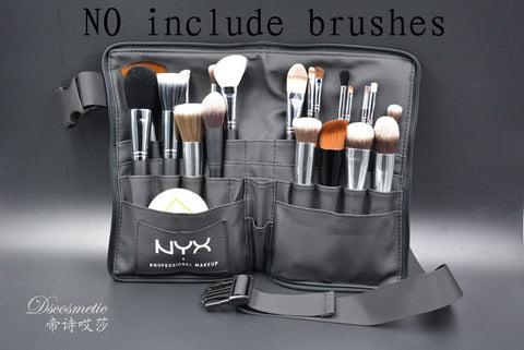 Image of Black Two Arrays Makeup Brush HolderThegirlsoutfits