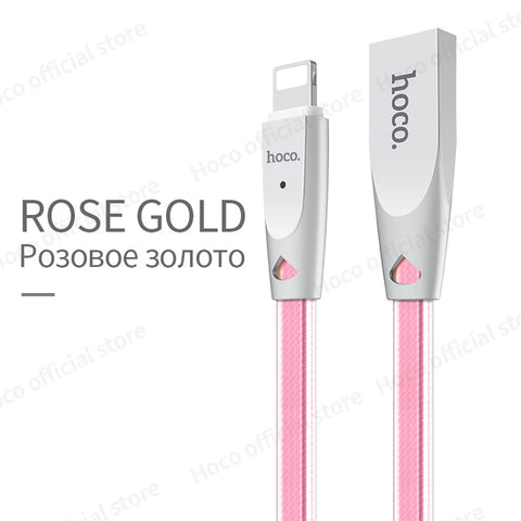 Image of Zinc Alloy Jelly Knitted Charging Cable for AppleThegirlsoutfits