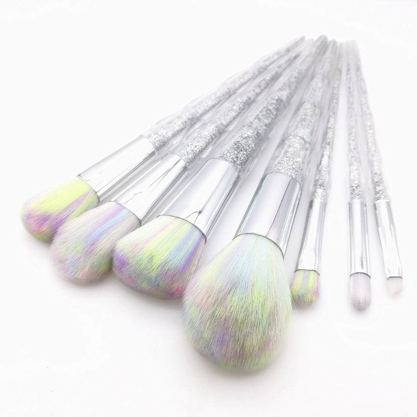 unicorn rainbow face & eye professional make up brush kit tools.Thegirlsoutfits