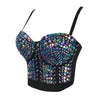 Gaga Bustier Pearls Diamond Push Up Night Club - THEGIRLSOUTFITS