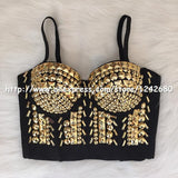 Gaga Bustier Pearls Diamond Push Up Night ClubThegirlsoutfits