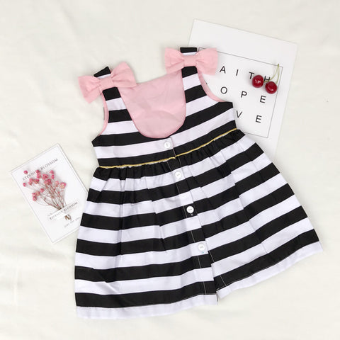 Holiday Black and White with Bow KidsThegirlsoutfits