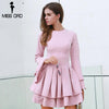 Autumn And Winter Sexy O Neck Long Sleeve Ruffles Women - THEGIRLSOUTFITS