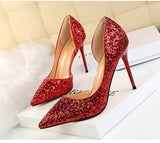 Woman Sexy Wedding Party Shoes Gold SilverThegirlsoutfits