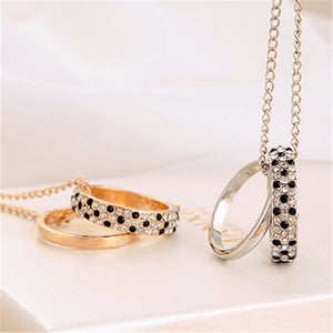 Leopard Double Loop Necklace