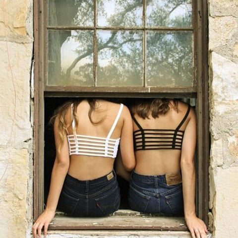 Image of Hollow Out Cage Crop Top Harness CroppedThegirlsoutfits