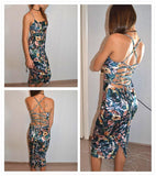 Lace Up Back Floral VelvetThegirlsoutfits