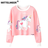 crop top Cartoon unicornThegirlsoutfits