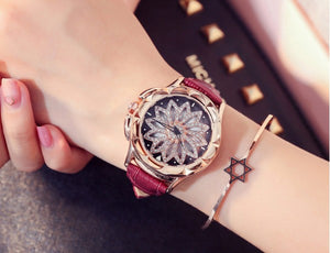 Rhinestone Watches Lady Rotation Dress Watch