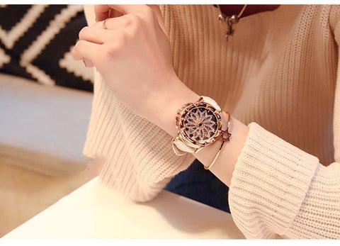 Rhinestone Watches Lady Rotation Dress WatchThegirlsoutfits