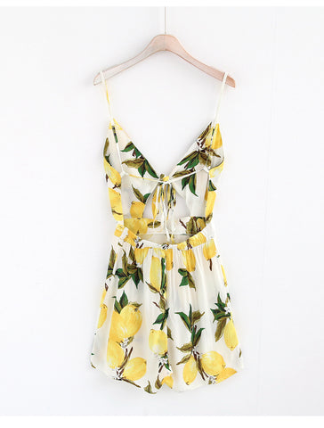 Image of Deep V-Neck Women Jumpsuit Floral Print Lace upThegirlsoutfits