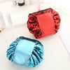 Solid Color Portable Sequins Folding Cosmetic Bag - THEGIRLSOUTFITS