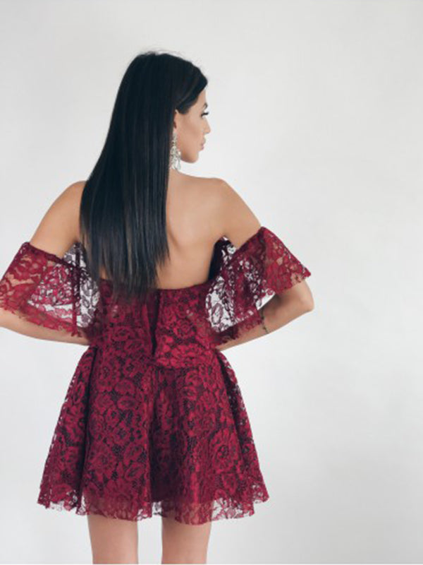 Sexy Off shoulder Slash neck - THEGIRLSOUTFITS