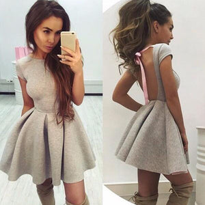 High Quality Tunic Backless  Dress
