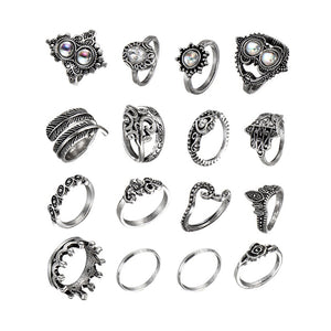 Vintage Hollow Out Rings