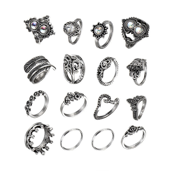Vintage Hollow Out Rings - THEGIRLSOUTFITS