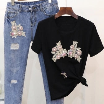 Pearls Floral Set - THEGIRLSOUTFITS