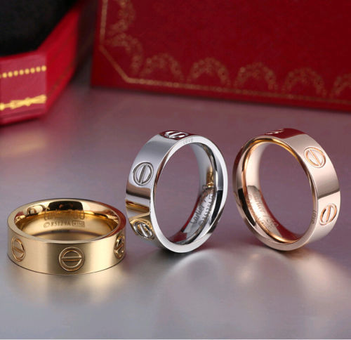 Unisex Steel Fashion Love ring - THEGIRLSOUTFITS