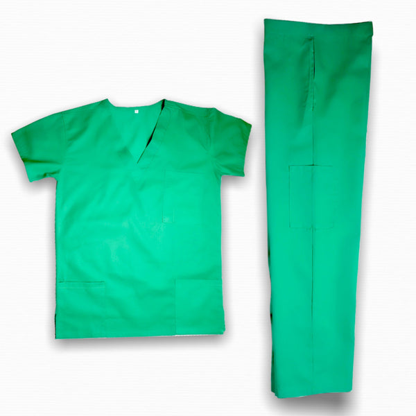 Universal Unisex v-neck scrub top and cotton drawstring  set with pocket - THEGIRLSOUTFITS