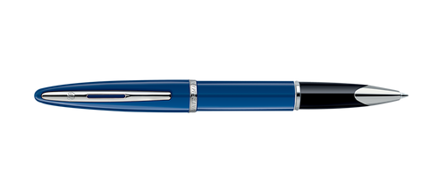 Waterman Carene Blue W/Silver Trim Rollerball Pen