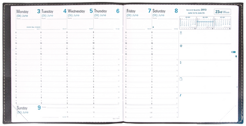 QUO VADIS DESK WEEKLY PLANNER EXECUTIVE 2019