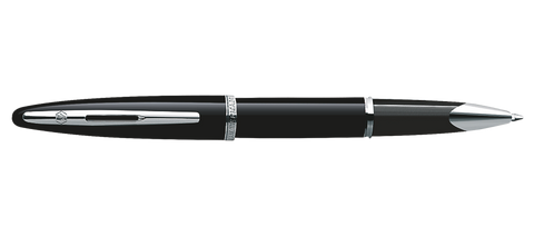 Waterman Carene Black-Silver Trim Rollerball Pen