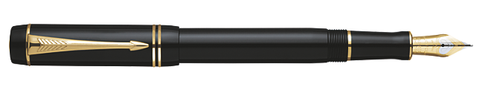 Parker Duofold Black/Gold International Fountain Pen