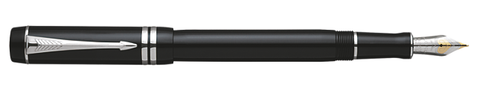 Parker Duofold Black/Platinum International Fountain Pen