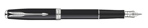 Parker Sonnet Black/Silver Fountain Pen