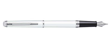 Waterman Hemisphere White Fountain Pen ST