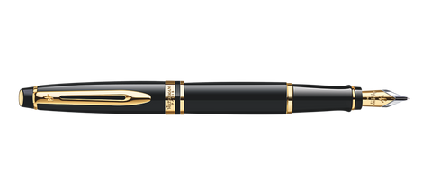 Waterman Expert Black Fountain Pen GT