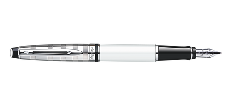 Waterman EXPERT Deluxe White Fountain Pen ST