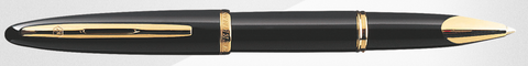 Waterman Carene Black W/Gold Trim Rollerball Pen