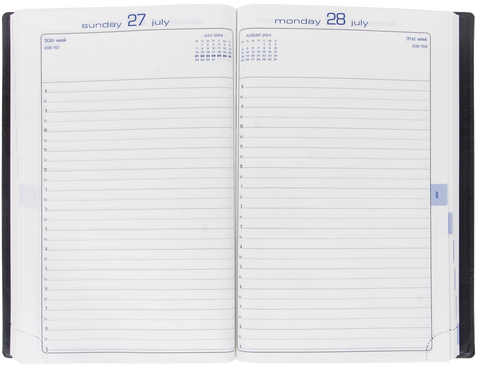EXACOMPTA DAILY DESK DIARY JOURNAL #21 2020***CLUB GRAINED LEATHERETTE***