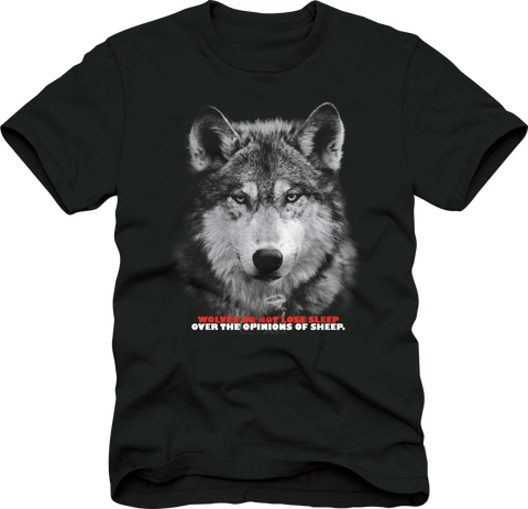 T-Shirt: Wolf Period - Army Green/Black/White