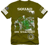T-Shirt: Squad on standby - Arme Green/Wht/Forest Green