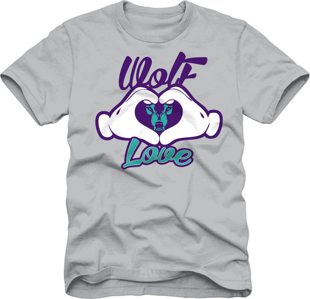 T-Shirt: Wolf Love Hands - Grey