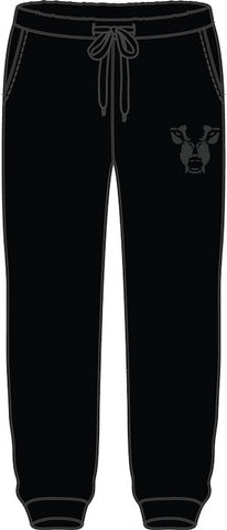 Joggers: Wolf Face - Black/Black